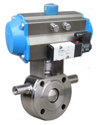 BQ671F气动保温对夹式球阀PN10~PN16