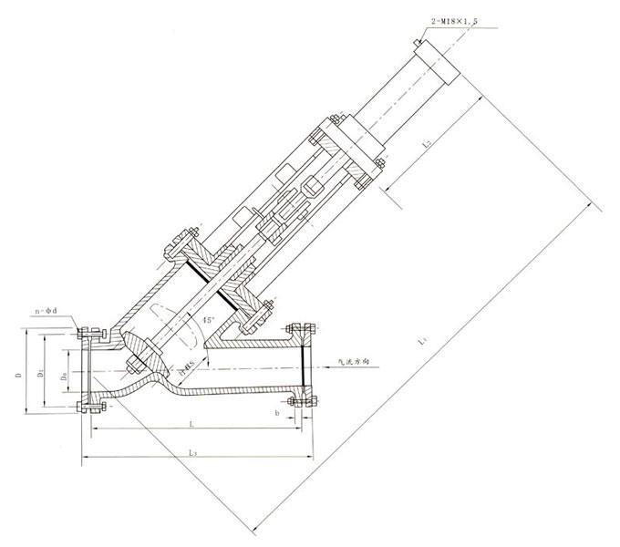 rgyj741y型截止阀-均压阀外形结构尺寸图图片