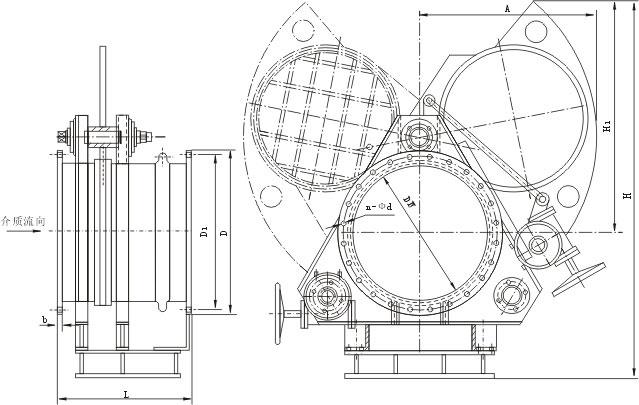 f343cx蜗轮扇形眼镜阀外形结构尺寸图图片
