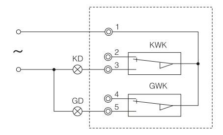 x对夹式软密封蜗轮传动消防信号蝶阀电气开关接线图