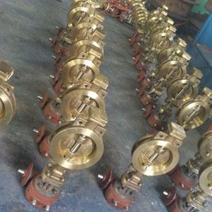 D373F、D373W型镍铝青铜对夹式硬密封蝶阀、海水专用蝶阀