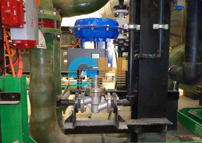 青岛海水淡化项目-气动衬氟调节阀