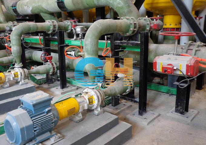 青岛海水淡化项目-气动对夹式蝶阀