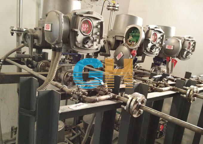 电动V型调节球阀-东亿热电厂