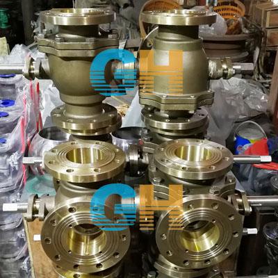 镍铝青铜联动三通球阀、SQ45F双联动三通球阀