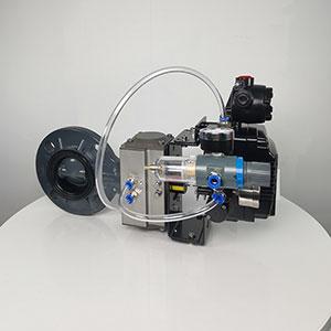 UPVC塑料气动对夹式蝶阀