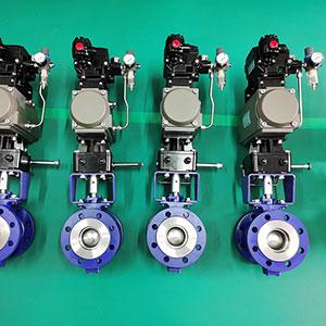VQ647H-16C-气动法兰V型调节球阀-V型调节球阀