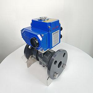 Q941F-10S UPVC电动法兰球阀,塑料电动开关球阀