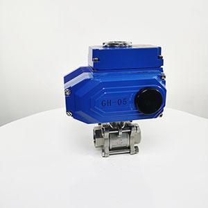 Q911F-16P电动三片式球阀,电动球阀,电动内螺纹球阀