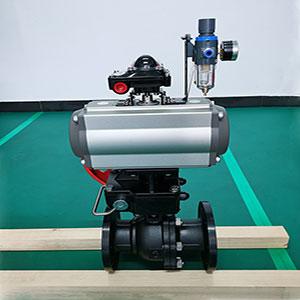 Q641F-16C型高平台气动球阀,气动法兰球阀,铸钢气动