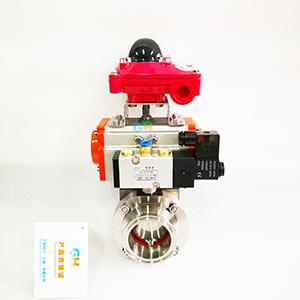 供应气动卡箍蝶阀-气动卫生级蝶阀-气动快装蝶阀