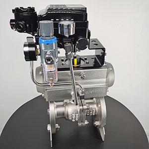 Q6T41F气动不锈钢法兰球阀-气动双作用调节球阀