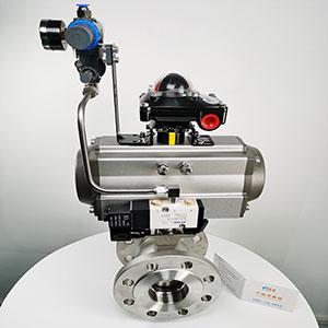 气动V型球阀-VQ647Y-16P气动V型切断阀-气动V型调节球