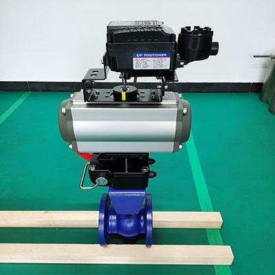 QV647H-16C V型气动调节球阀-带手动装置