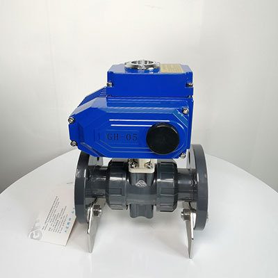Q941F-10S-塑料电动法兰球阀-耐腐蚀电动开关球阀