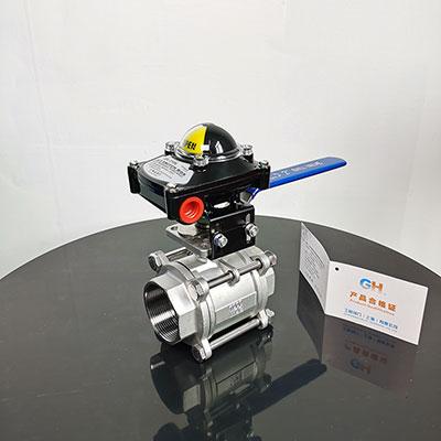 XQ11F-16P手动信号反馈球阀 不锈钢螺纹球阀
