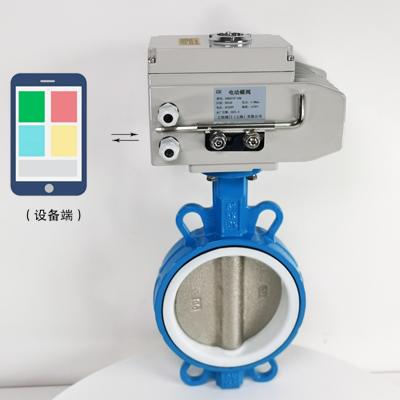 GHWXD971F-10Q-4G型无线电动开关对夹式蝶阀/无线电动蝶阀