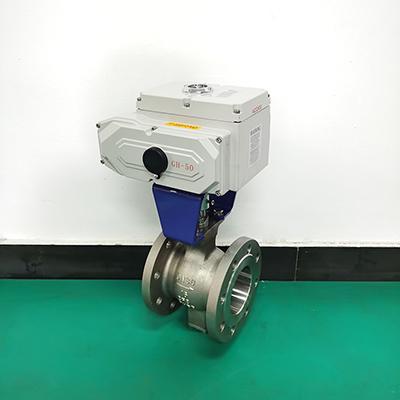 AC24V电动V型调节球阀 VQ947H-16P电动V型调节球阀