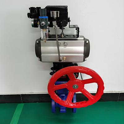 气动流量调节阀-碳钢法兰调节球阀VQ6T47H