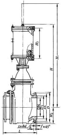 平板阀结构图